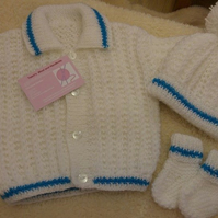 jacket, hat and bootie sets  - made to order