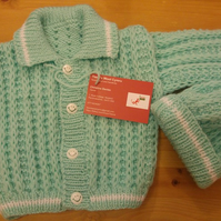 Mint green jacket and hat set