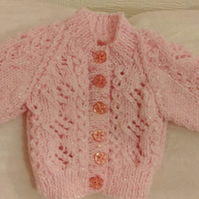 Pink  lacy  cardigan   -  New born