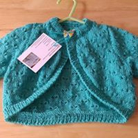 Teal bolero - long sleeves