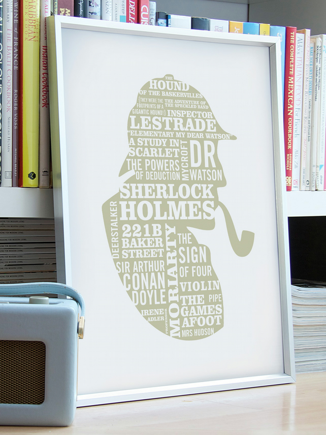 ELEMENTARY! - A2 Sherlock Holmes Typographic print