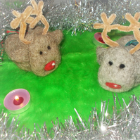 Woolly Reindeer Bauble