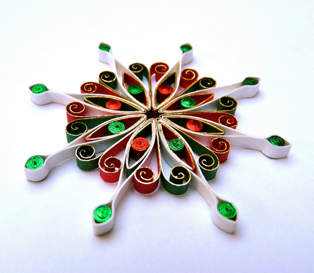 christmas decoration quilled quilling folksy On decoration quilling