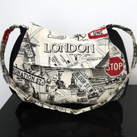 London Landmarks Luxury Upholstery Fabric Handbag, Ready to Ship