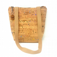 Cork Leather Rainbow Fleck Natural Vegan Eco Friendly Handbag, Free Shipping