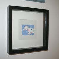 SALE  Sausage Dog Dachshund Art Unique Framed Picture
