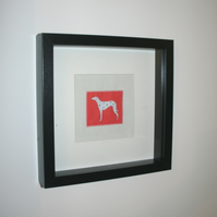 SALE Dotty Dog Framed Picture - FREE P&P IN UK