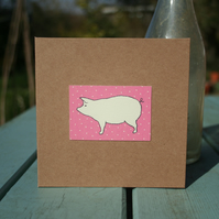 Pig Design Handmade Card