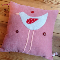 SALE Bird Design Handmade Cushion