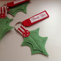 NEW Christmas Teacher Thank You Personalised Key Ring