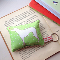 HALF PRICE Lavender Whippet Dog Key Ring