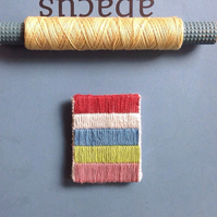 Stripes Modern Hand Stitched Brooch