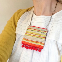 Hand Woven Boho Style Statement Necklace