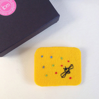Bumble Bee Hand Stitched Felt Brooch