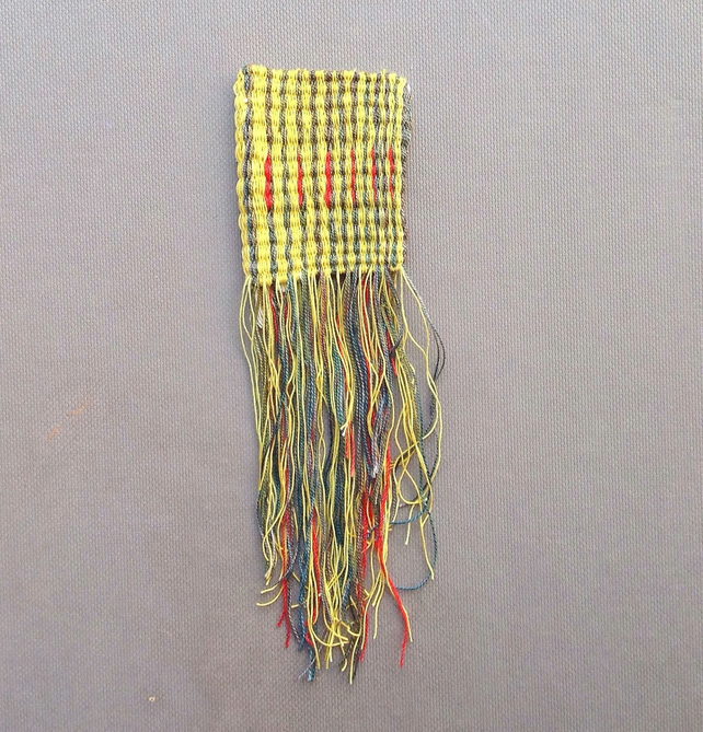Hand Woven Miniature Wall Hanging