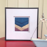 Hand Embroidered Chevron Art Work