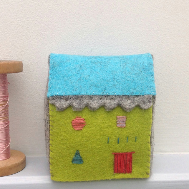 Tiny Folk House Sculpture
