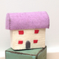 Miniature Lilac Felt Cottage