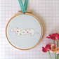 Dachshund Dog Hand Embroidered Hoop Art