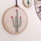 Cactus Hand Embroidered Wall Hoop