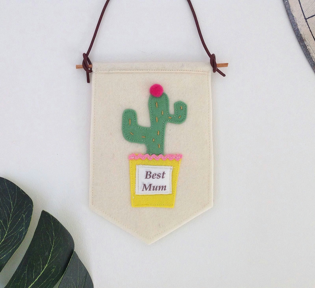 'Best Mum' Mini Felt Birthday Banner