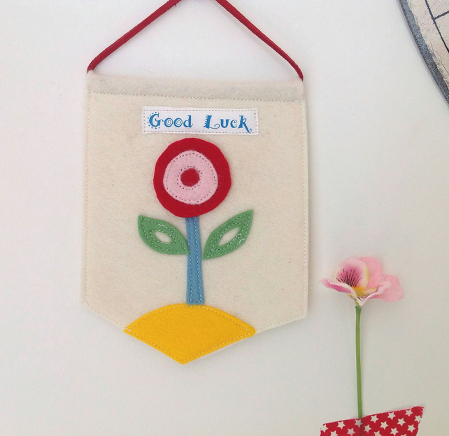 Good Luck Handmade Scandi Design Pennant
