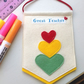 Great Teacher Pennant In Gift Box