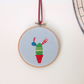 Cactus Multicoloured Hand Embroidered Wall Hoop