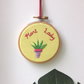 Hand Embroidery Plant Hoop 'Plant Lady'