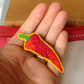 Brooch, Hand Embroidered Chilli Pepper