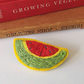 Brooch, Hand Embroidered Watermelon