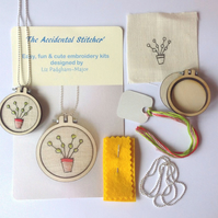 Pot Plant Hand Embroidery Necklace Kit