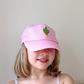Hand Embroidered Cactus Child's Adjustable Cap