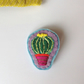 Cactus Hand Embroidered Felt Brooch