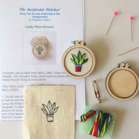 NEW Embroidery Kit, brooch kit.