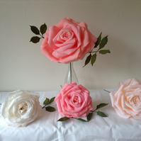 Large paper roses  made to order