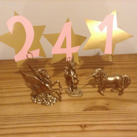Pegasus unicorn table number holders