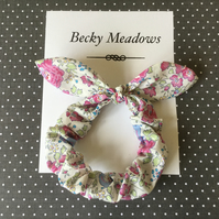 Bow scrunchie. Bunny ear  style scrunchie in Liberty of London Tana Lawn cotton