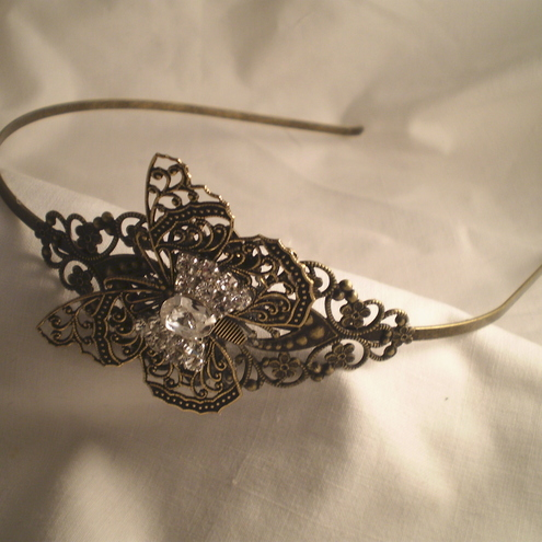 Diamante Filigree  Butterfly Headband