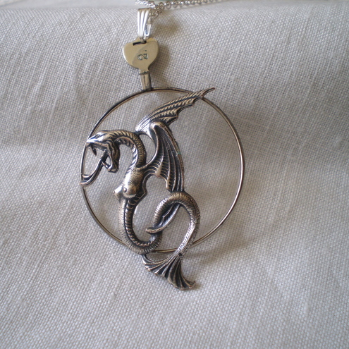 "Steampunk ""Eye Of The Sea Dragon"" Necklace"