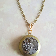 Steampunk My Heart For All Time Locket