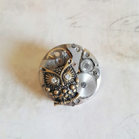 Steampunk Wise Owl Brooch Harry Potter Inspired