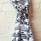 Black and White Geometric Triangle pattern printed 100% Cotton Scarf