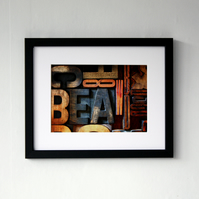 Letterpress Print blocks Photographic Framed Print