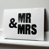Mr & Mrs, Mr & Mr, Mrs & Mrs - Letterpress Wedding Cards