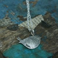 Little birdie pendant and earrings gift set