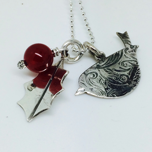 Robin and Holly necklace - Sterling Silver