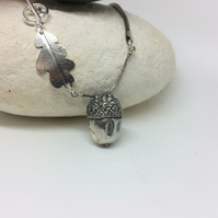 Large acorn with oak leaf embellishment