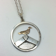 Sea Gull on Beach hut pendant