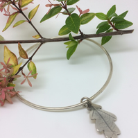 Bangle with Oak leaf Charm